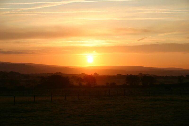 sunrise over higher twitchen